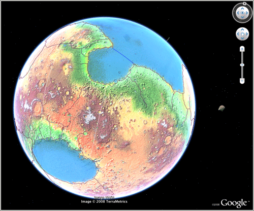 Marte de ficcion en Google Earth