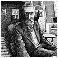 M.C. Escher: Mano con Esfera, detalle