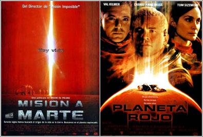 Mision a Marte y Planeta Rojo (ambas estrenadas en el año 2000)