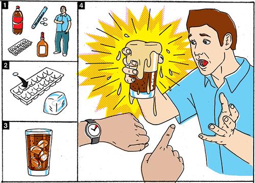 Ingredientes para una bebida explosiva