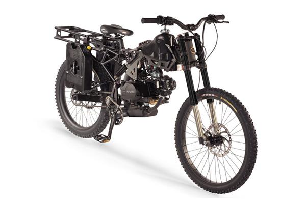 Moto survivalista motoped