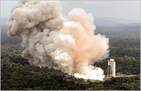 Prueba encendido motor Ariane 5