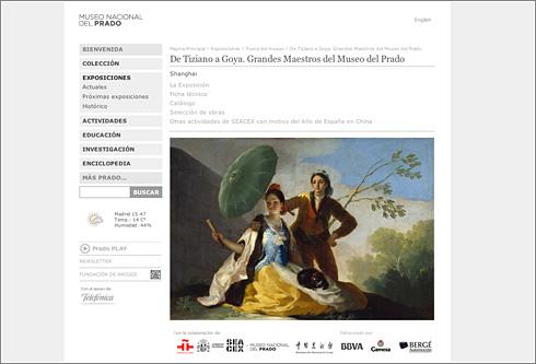 Página Principal del Museo Nacional del Prado