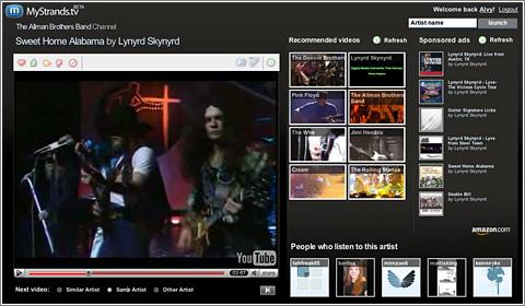 MyStrands.TV: televisión personalizada de vídeos musicales