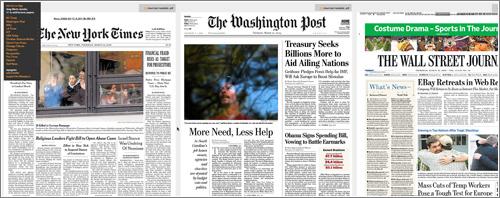 NEWScan: las portadas de una buena selección de periódicos en inglés
