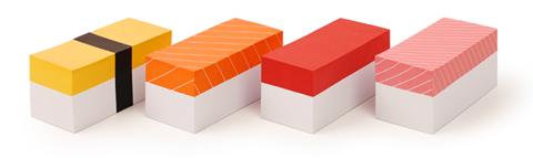 Tacos de papel estilo Sushi