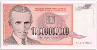 Nikola-Tesla-Billete