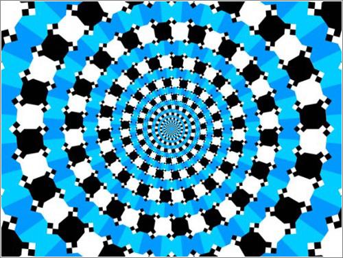 No es una espiral… sigue los crículos con el ratón para comprobarlo