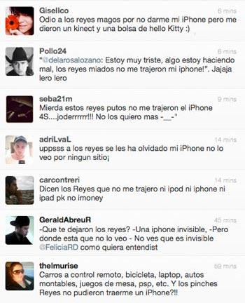Grrrr grrrr putos reyes putos no me trajeron un iPhone grrrr