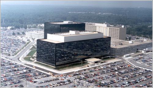 Vista aerea del edificio principal de la NSA / NSA