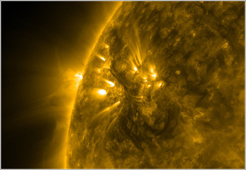 El sol emitiendo una majestuosa nube de gas de 800.000 kilómetros de alto / Foto: NASA Goddard Space Flight Center