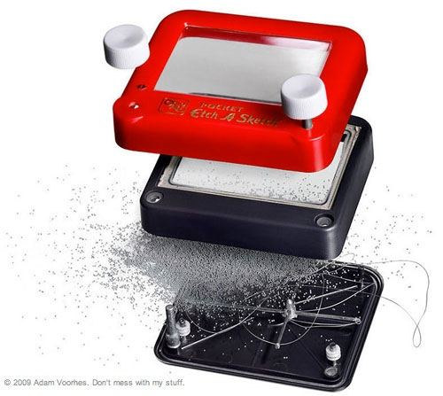 Exploded Study Three, Etch-A-Sketch
