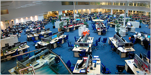 Newsroom del Daily Telegraph (CC) David Sim @ Flickr