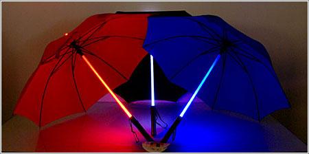 Paraguas Sable Laser, confía en la Fuerza para no mojarte