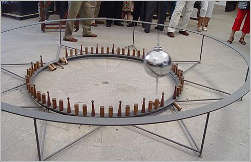 Pendulo de Foucault en el Observatorio Astronómico de Madrid (CC) Alvy