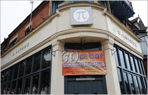 Pi en un bar de Leicester