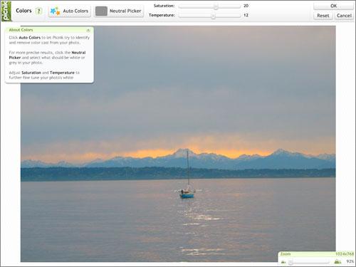 Picnik - editor de fotos online