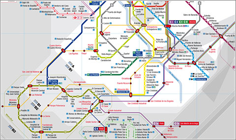 Planto Alternativo del Metro de Madrid