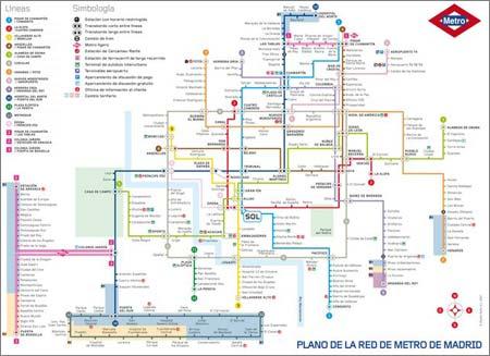 Plano del Metro de Madrid, 2007