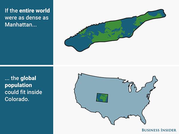 Poblacion densidad mundo