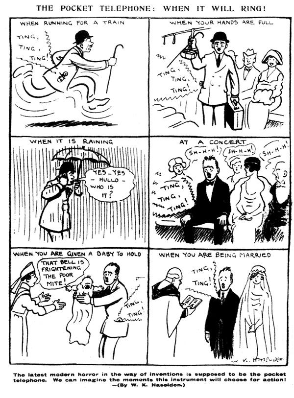 Pocket phone w k haselden 1919