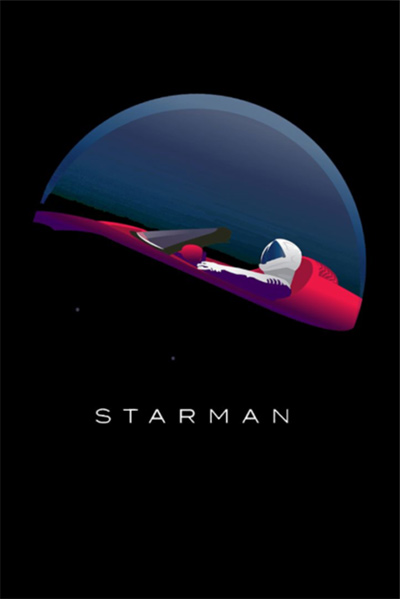 Poster starman limited edition