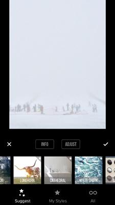 Priime App sugiere filtros fotografías móvil