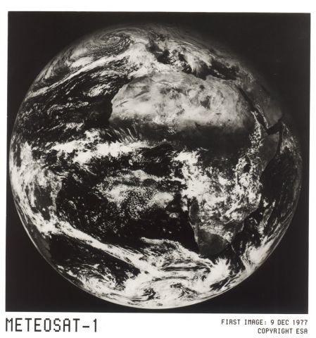 Primera Imagen del Meteosat, 1977