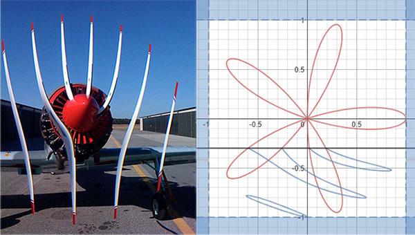 El curioso efecto que se produce al fotografiar la hélice de un avión explicado con una imagen