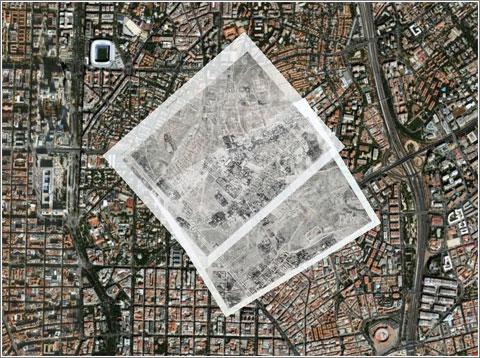 Prosperidad + La Guindalera sobre Madrid