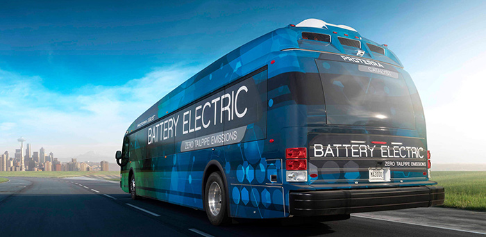Proterra electric bus 1800 km record