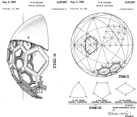 La cúpulas geodésicas de Buckminster Fuller