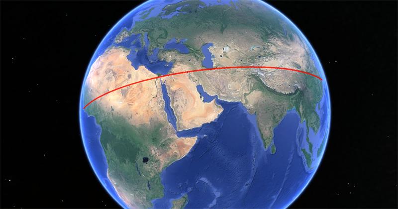 Esta es la «línea recta» más larga que puedes recorrer por tierra