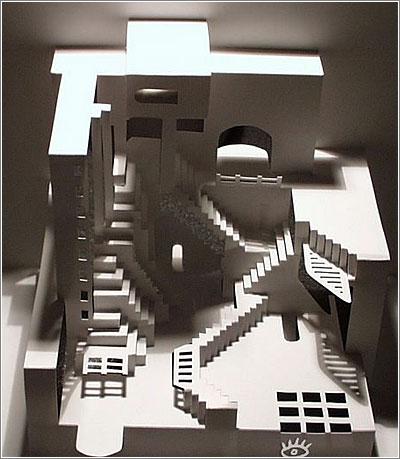 Recortes de Papel Escherianos, por Ingrid Siliakus
