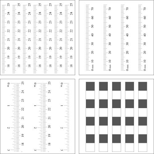 Reglas diversas en PDF para imprimir