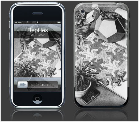 Skin iPod/iPhone M.C. Escher Reptiles