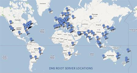 Root Servers en el Mundo