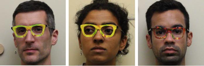 Rostros gafas reconocimiento facial