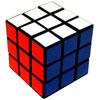 Cubo de Rubik rojo-azul-blanco