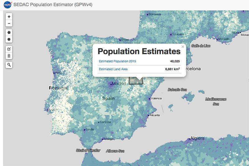 Sedac population stimator 1