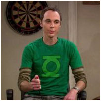 Sheldon + Green Lantern