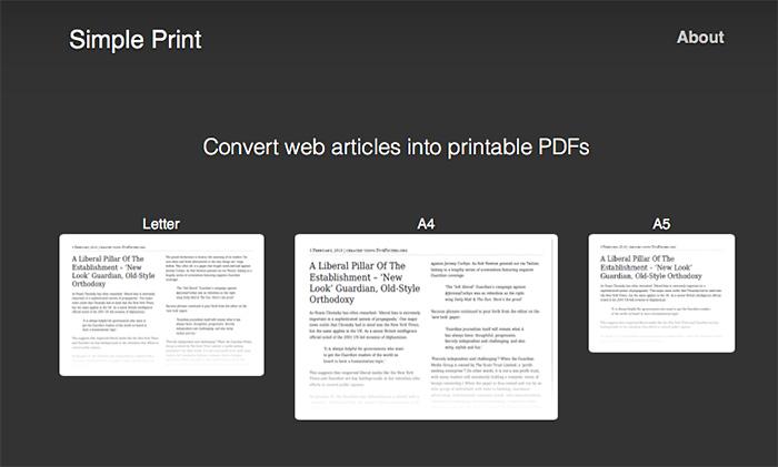 Simpleprint web service pdf