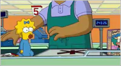 Los Simpson: primer paso de Maggie por caja