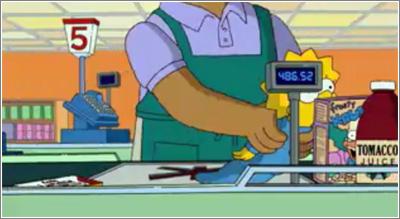 Los Simpson: segundo paso de Maggie por caja