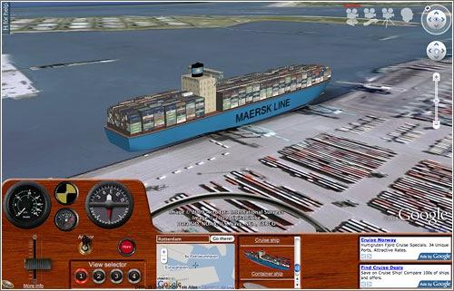 Ships, simulador barcos en Google Earth web