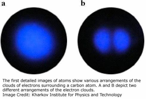 Fotografía detallada de un átomo de carbono