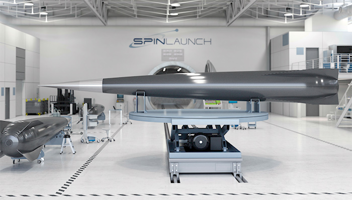 Spinlaunch catapult