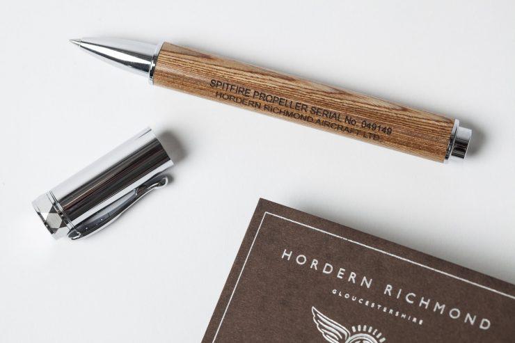 Spitfire pen made from original spitfire propeller