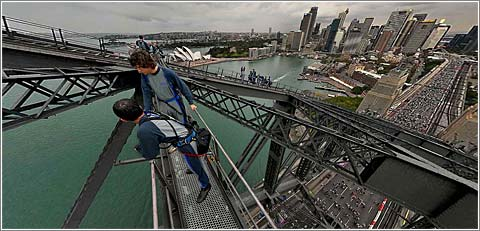 Sydney Bridge Panorama, © Peter Murphy
