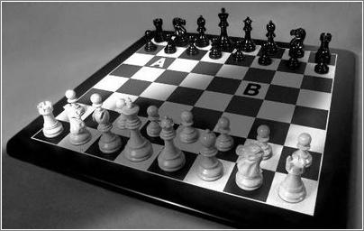 La ilusión óptica del tablero ajedrezado